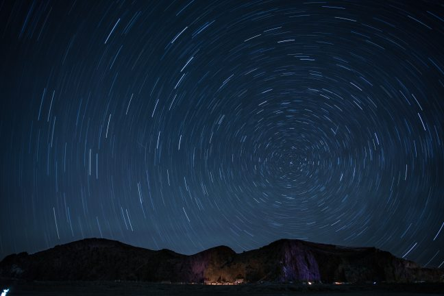 Time-Lapse photo of starry night sky